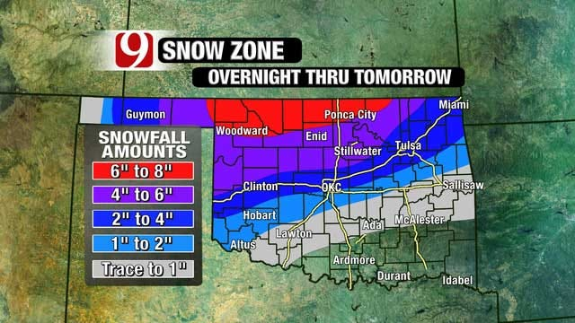 Second Winter Storm Moves In Overnight Monday