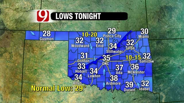 Warm, Windy Sunday Greets Oklahoma Ahead Of Cold Front