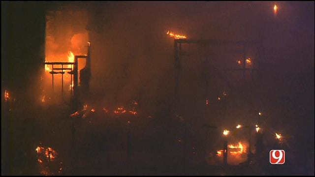 Crews Contain House Fire In Oklahoma City