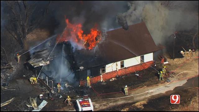 Crews Contain House Fire Near Noble