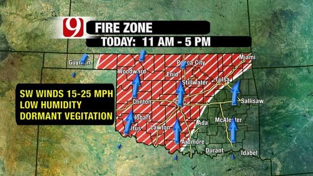 'Wind Machine' Cranks Up Across Oklahoma Creating Fire Danger
