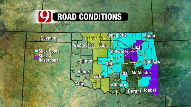 Freezing Morning Temps Cause Slick Travel Conditions, Accidents