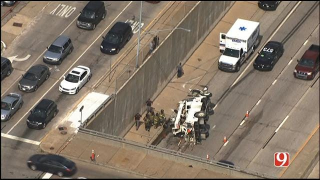 Crews Respond To Rollover Accident On WB I-44 At May