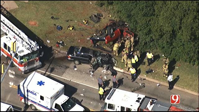 3 Critically Injured In Two-Vehicle Collision In SE OKC