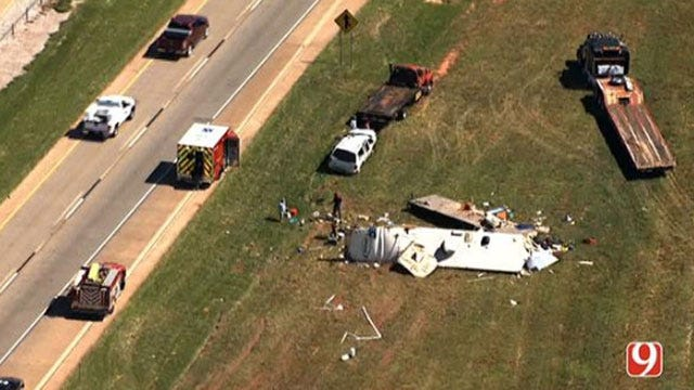 Traffic Backup As Crews Respond To Accident On I-35