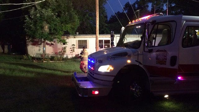 Fire Destroys Mobile Home In Spencer