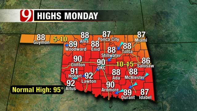 High Temps Precede Another Cool Down In Oklahoma