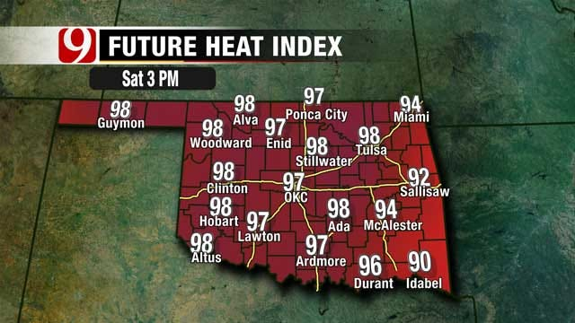 Highest Temperatures In Western Oklahoma Saturday