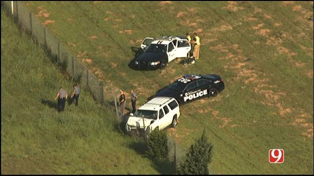 Police Arrest Two After Chase Ends In Crash In NE OKC
