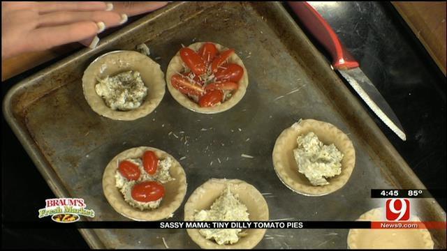 Tiny Dilly Tomato Pies
