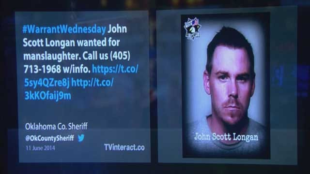 Okla. County Sheriff's Office Using Social Media To Find Manslaughter Suspect