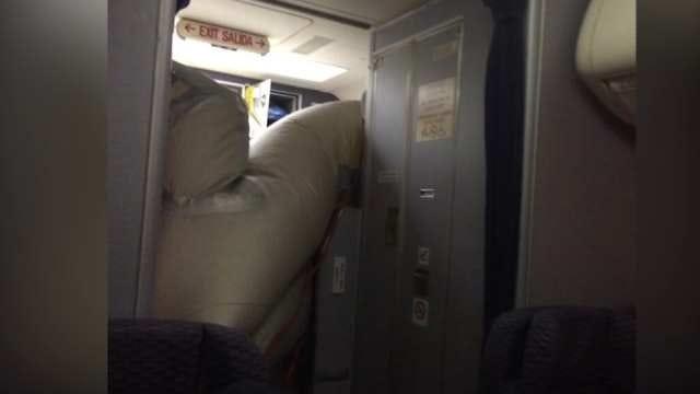 Passenger Jet Slide Malfunction Forces Emergency Landing In Wichita