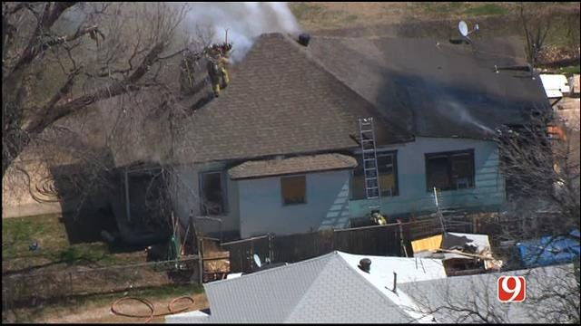 Firefighters Contain House Fire In Northwest OKC