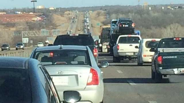 I-40 Eastbound Moving Again Near Choctaw Road After Accident