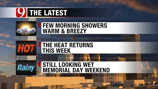 Warm Spring Weather Continues Today, Highs Reach 90s Mid-Week