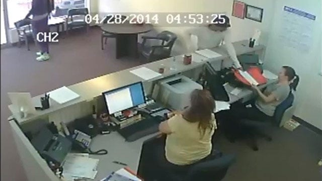 Caught On Camera: Two Men Rob NW OKC Business