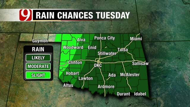 Rain Chances Continue Through Tuesday