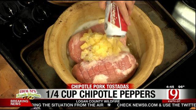 Chipotle Pork Tostadas