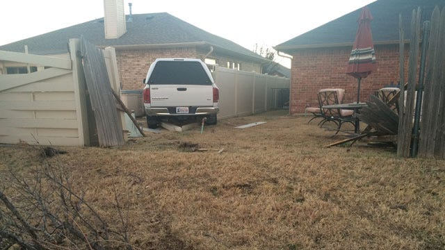 Truck Crashes Through Fence And Into SW OKC Home