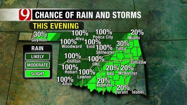Rain On The Way For Much Of Oklahoma