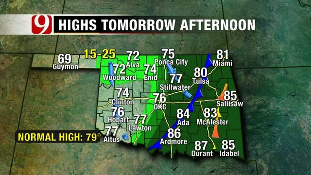 Chance For Thunderstorms In OKC Metro Tonight, Thursday