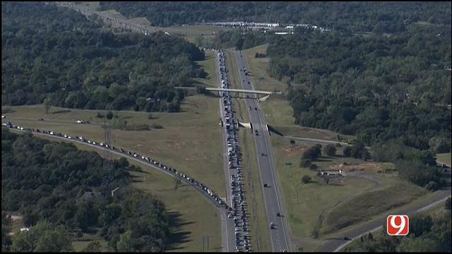 Semi Crash Slows Traffic On EB I-40, Near Choctaw Rd.
