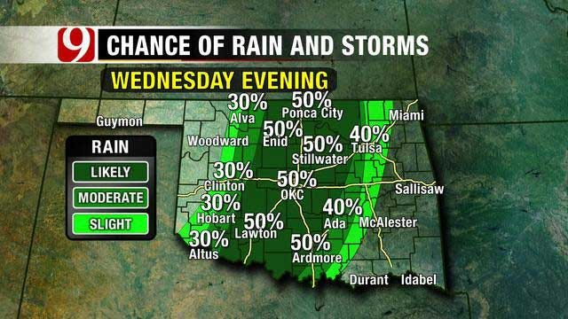 Temperatures Staying Above Normal, Weak Storm System Arrives Wednesday
