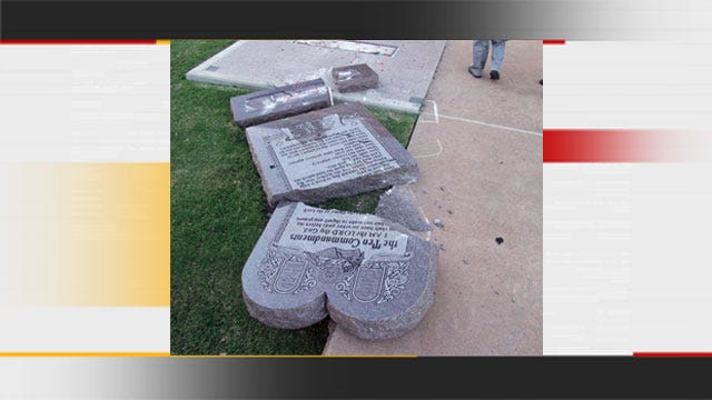 OHP Identifies Man Accused Of Running Over Ten Commandments Monument