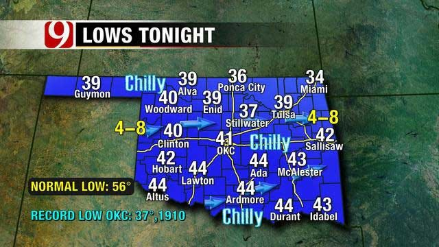 Overnight Temperatures Will Drop To Low 40s