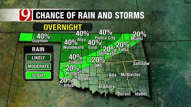 Warm, Mild Weather, Some Rain Chances Possible In Oklahoma