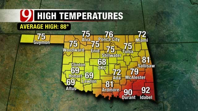 Rain Keeps Temperatures Low For Much Of Oklahoma