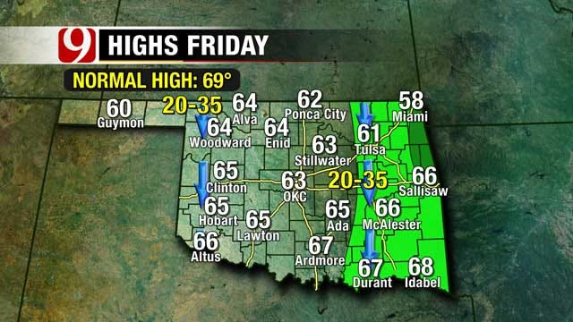 Thunderstorm Chances Increase For Parts Of Oklahoma Wednesday Evening
