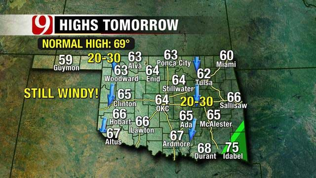 High Winds, Temperature Dropping Slightly Into The Weekend