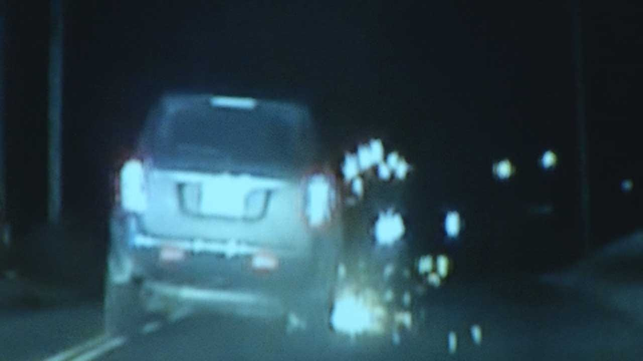 Dash Cam Video Captures Grady County Police Chase