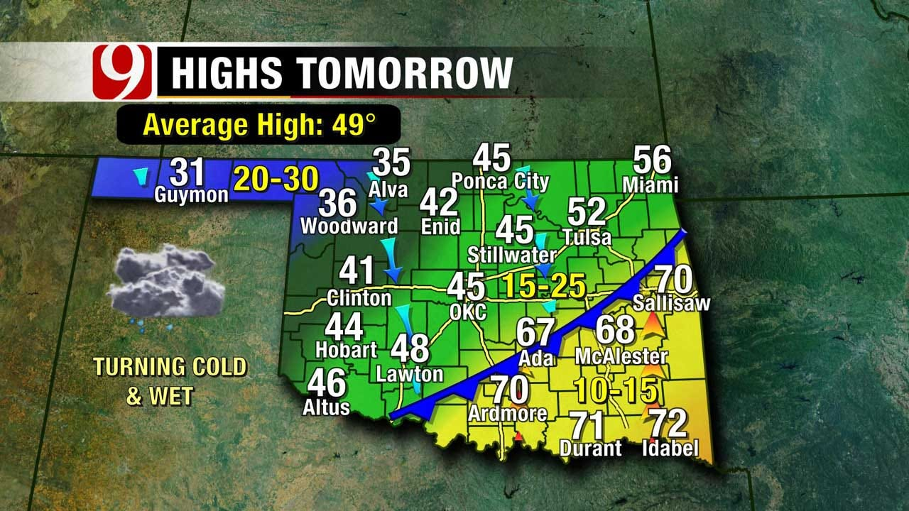 Rain, Few Showers Possible By Saturday Morning For OK