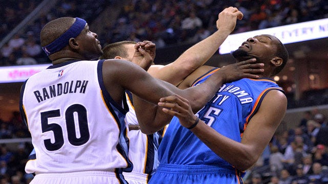 KD Passes Maravich In Scoring As Thunder Maul Grizzlies