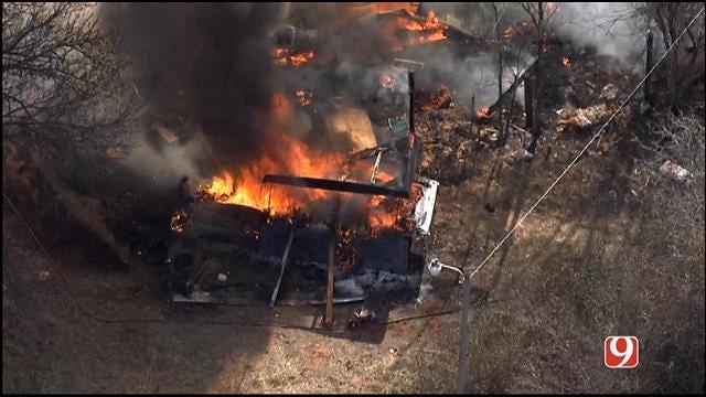 Fire Destroys Abandoned Home In SE OKC
