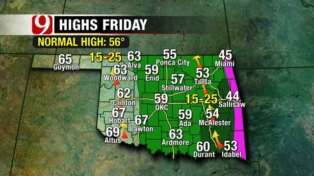 Brief Warmup Arrives Ahead Of Another Frigid Oklahoma Weekend