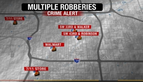 OKC Police Arrest Two Suspects In Multiple Robberies
