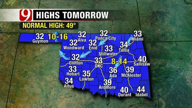 Snow On The Way With Warmer Weather To Follow In Oklahoma