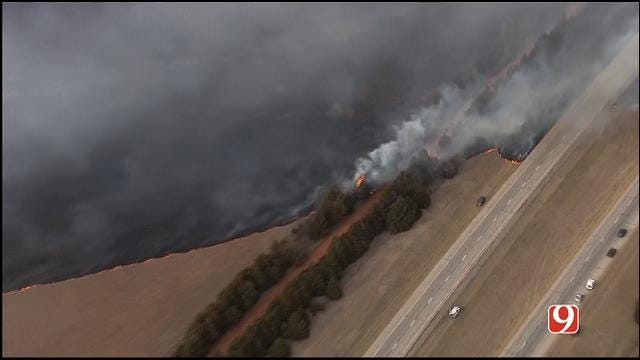 Wildfires Burn Hundreds Of Acres Across Central Oklahoma