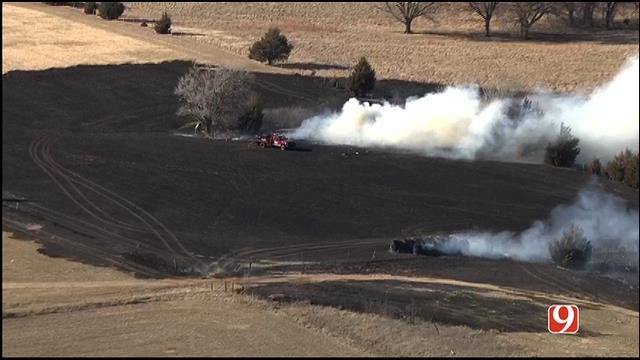 Crews Contain Grass Fire In NW Edmond