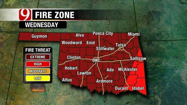 Expect High Fire Threat And Warm Weather In Oklahoma