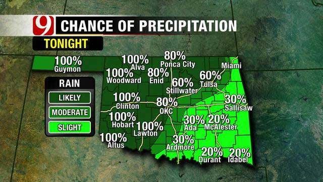 Weekend Rain Showers Expected In Oklahoma
