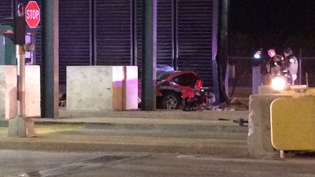 Driver Killed After Crashing Into Semi, Toll Gate On HE Bailey TPK