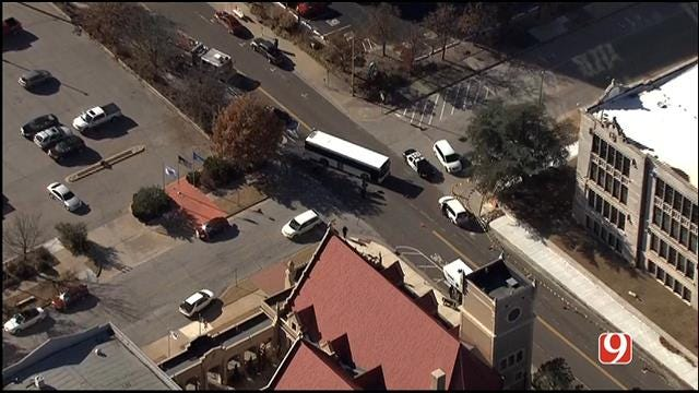 Injury Crash Involving City Bus Reported Near Downtown OKC