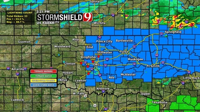 Severe Thunderstorm Watch Issued For Parts Of Oklahoma