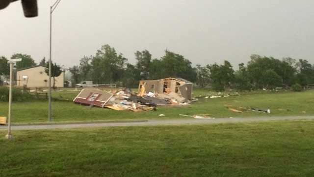 Severe Storms Produce Tornadoes, Cause Damage In Central Oklahoma