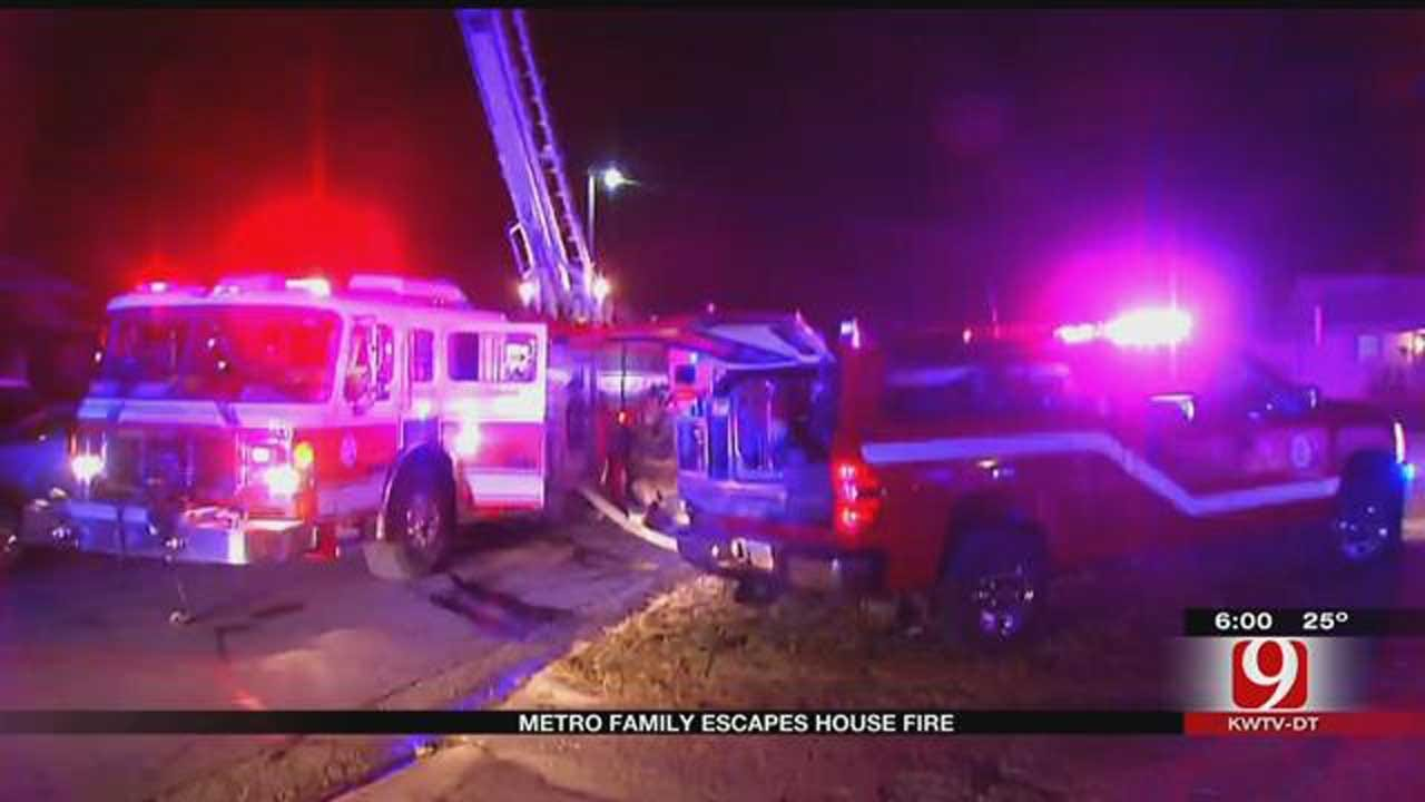 Metro Family Escapes House Fire