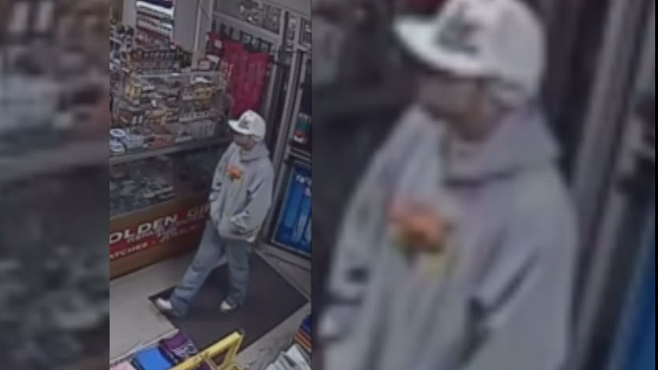 Caught On Camera: Armed Suspect Holds Up Teenager At SW OKC Store